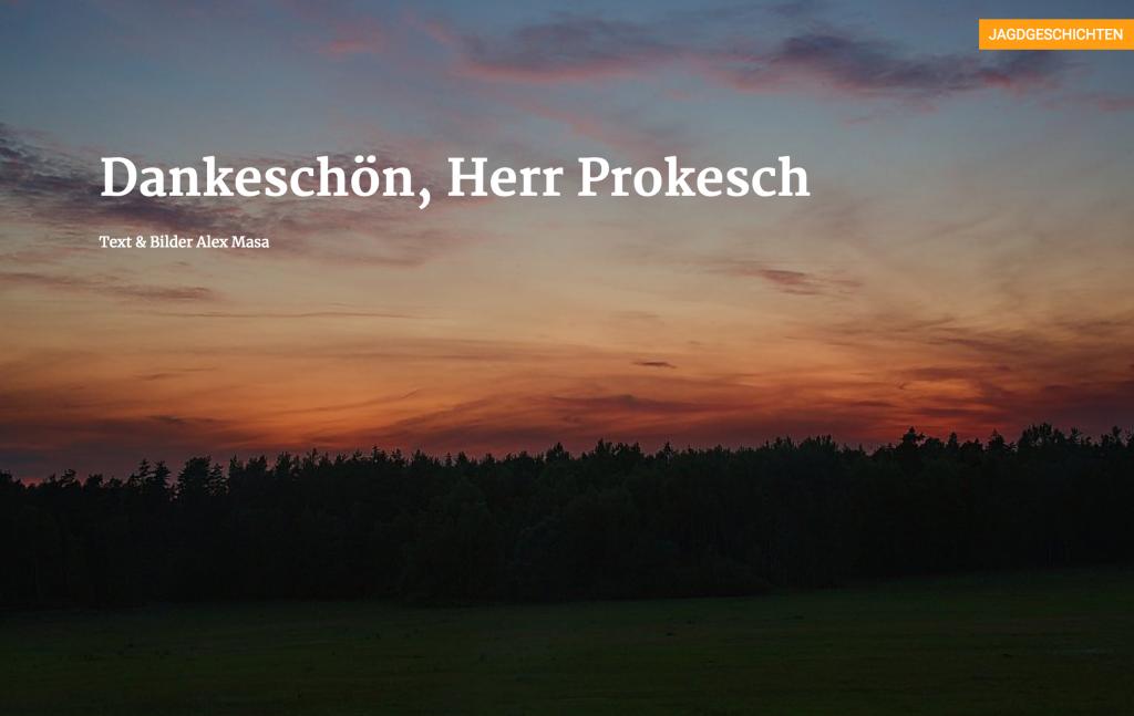 Dankeschön, Herr Prokesch