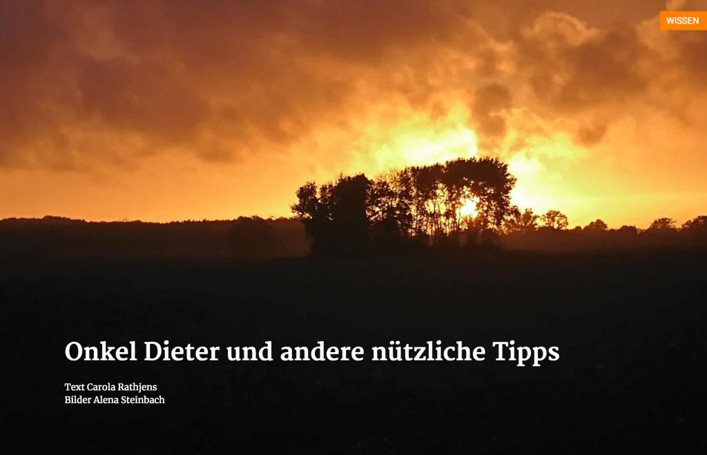 Onkel Dieter und andere nützliche Tipps