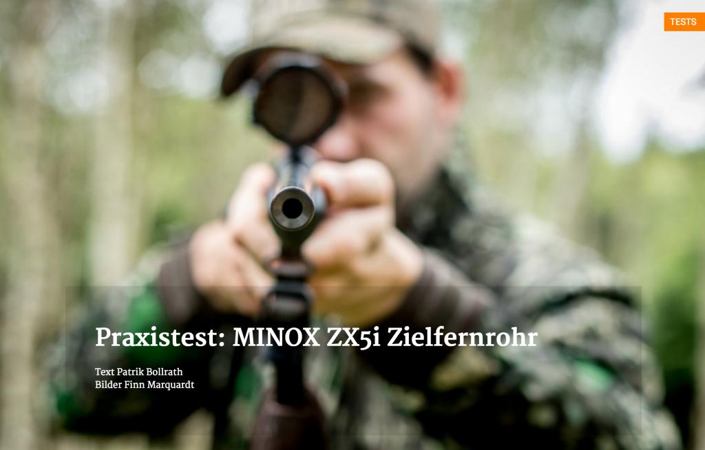 Praxistest minox zx i zielfernrohr wir jagen