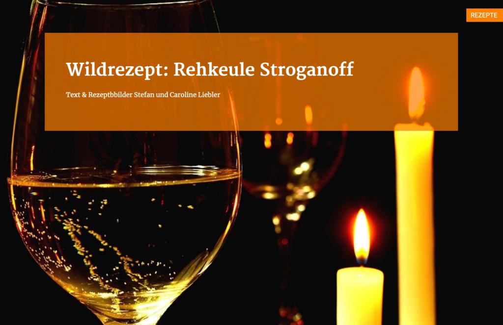 Rehkeule Stroganoff