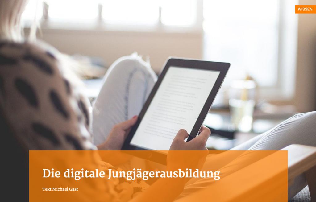 Elearning: Digitale Jungjägerausbildung